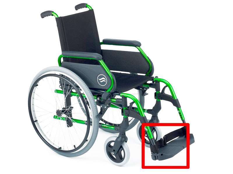 Manual Wheelchair with Elevated Leg Support